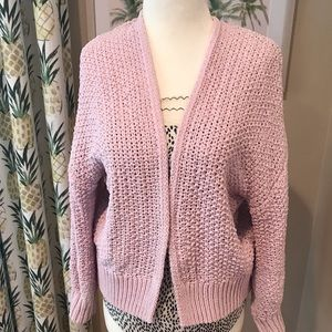 Comfy Cardi Pink Wrap Sweater Lounge Layer